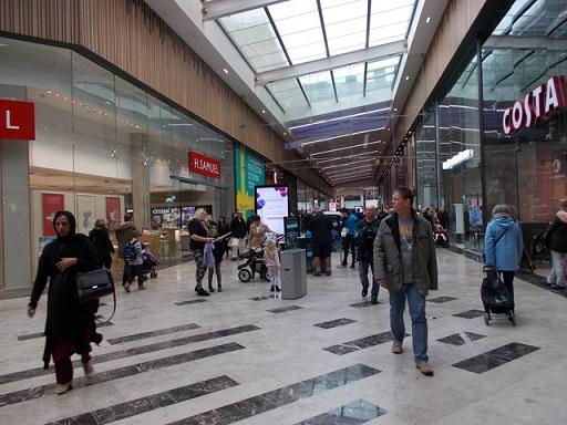 People walking at mall